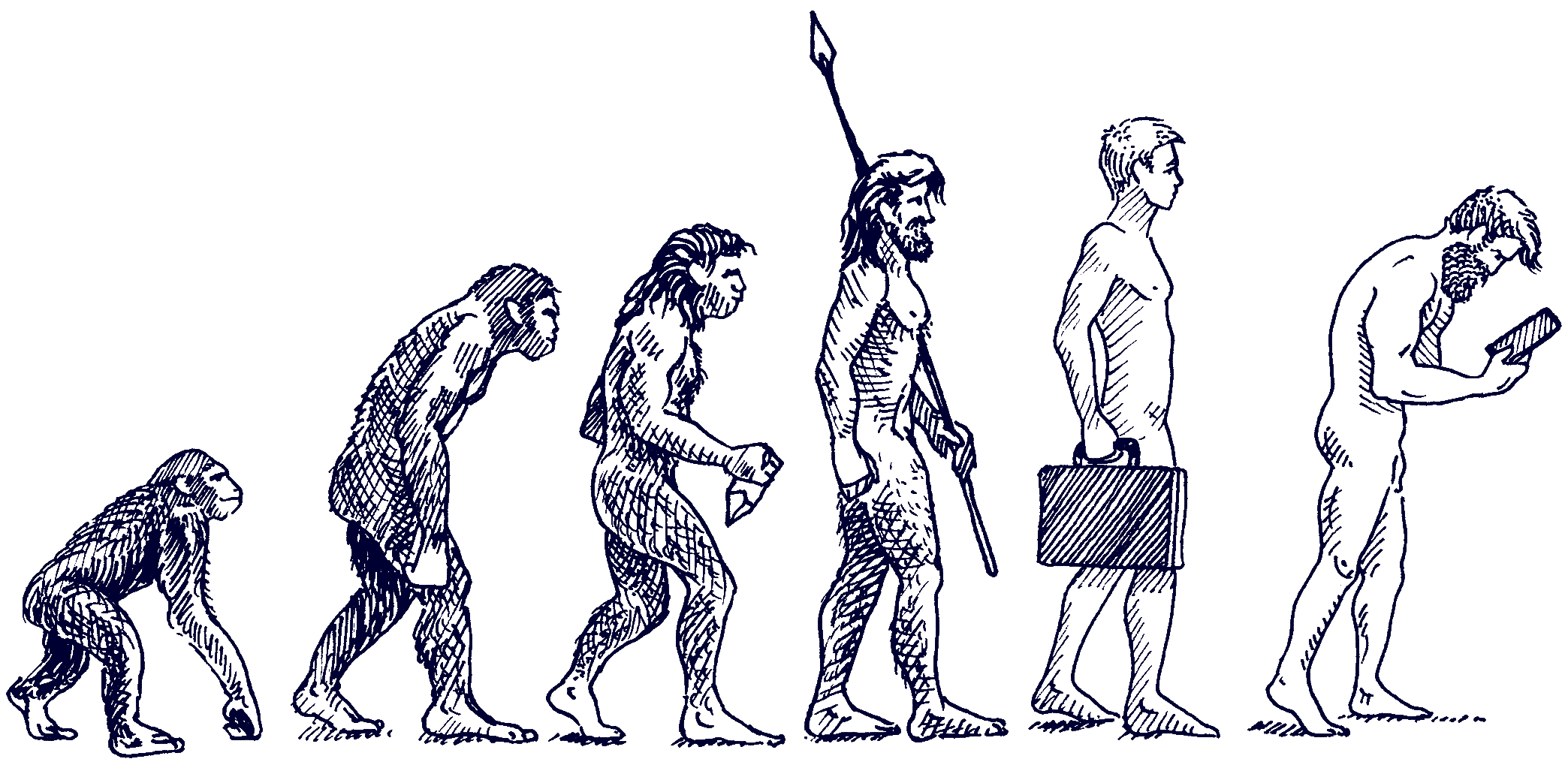 Arbeit, Digitale Evolution | Recht 4.0, Illustration: Karlheinz Wasserbacher